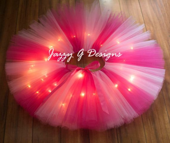 Pink and Shocking Pink LED Light Up Tutu-Adult by JazzyGDesigns #RaveTutu #AdultTutu #ColorRun #HalloweenTutu #Pittsburgh #handmade #Etsy #Tutu #LightUpTutu #PinkTutu