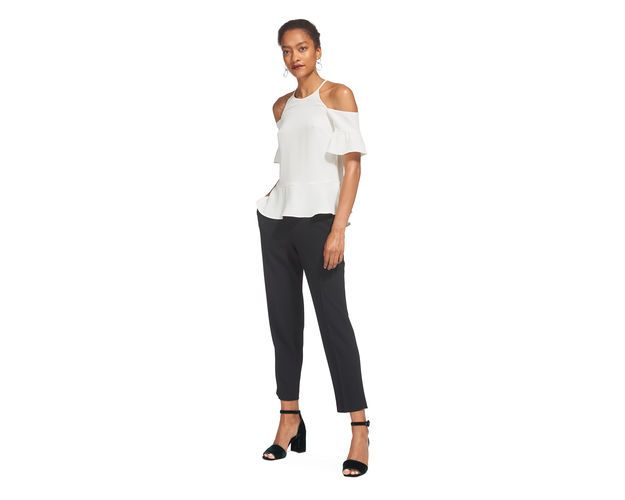 Adele Cold Shoulder Top, in Ivory on Whistles