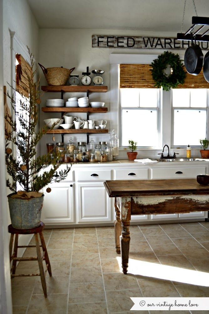 Farmhouse Kitchen Decor Rustic Kitchen Open Shelving: Best 20+ Rustic White Kitchens Ideas On Pinterest