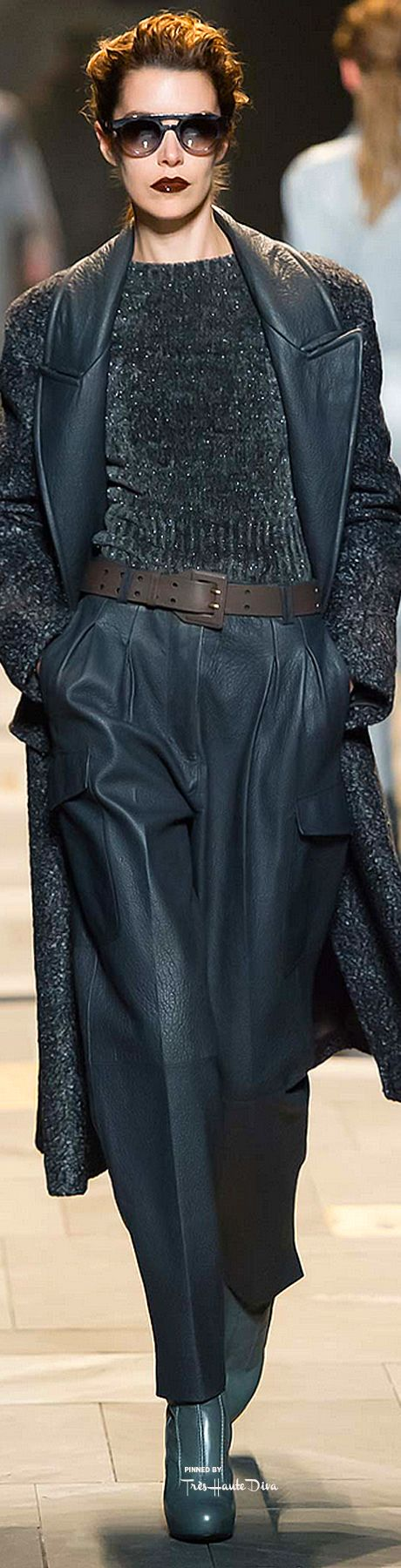 #MFW Trussardi Fall 2015 RTW ♔THD♔ More of this collection on my Milan Fall 2015…