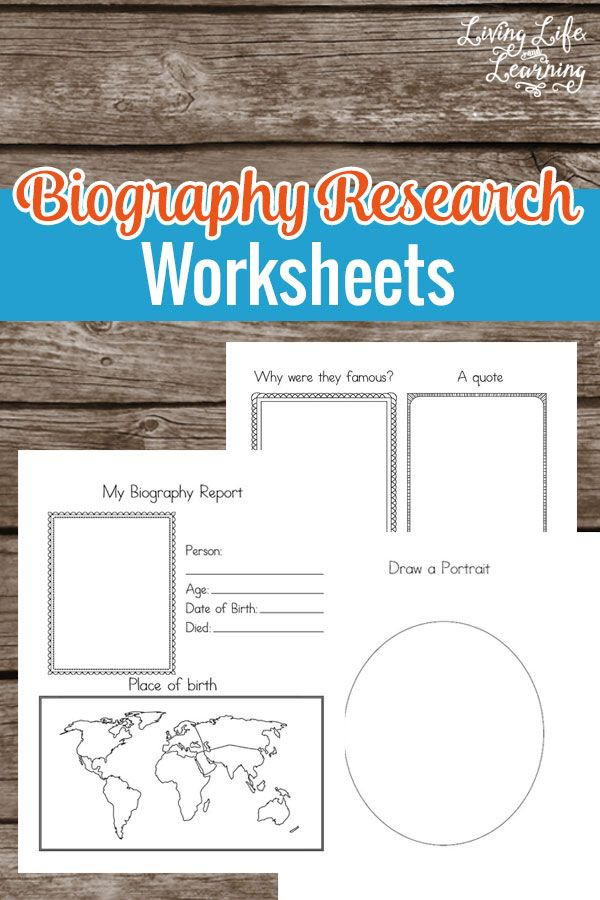 Want to learn about a new famous person? Use these Biography Research Worksheets…