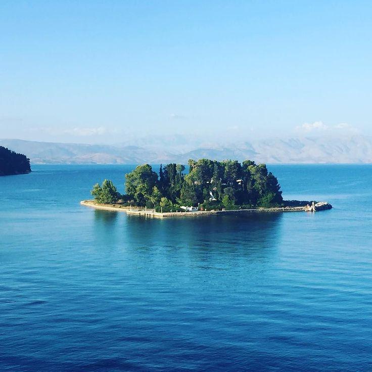 Meet Pontikonisi the Mouse Island. . . . #greece #corfu #kerkyra #view #landscape #instanature #vacation #vacay #uninhabited #island #kanoni #greecelife
