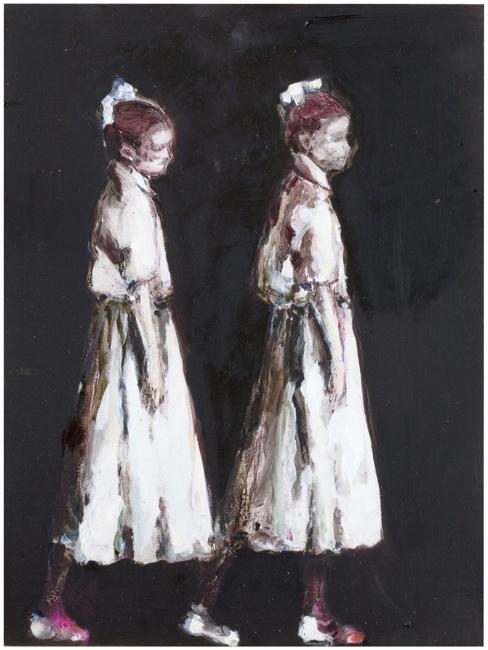 Anna Tuori, Portrait of an Artist I, 2009, oil on board, 40 x 30cm