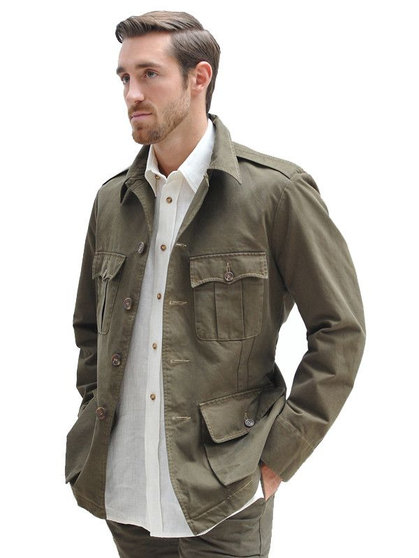 Cotton Tailored Safari Jacket