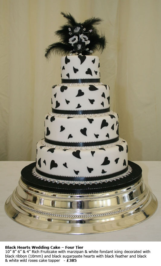cake toppers for wedding cakes | Design Wedding Cakes and Toppers: Black Hearts Wedding Cake