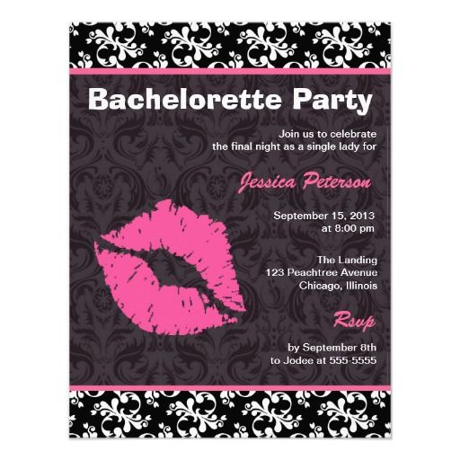 Best Bachelorette Party Invitation Templates Images On
