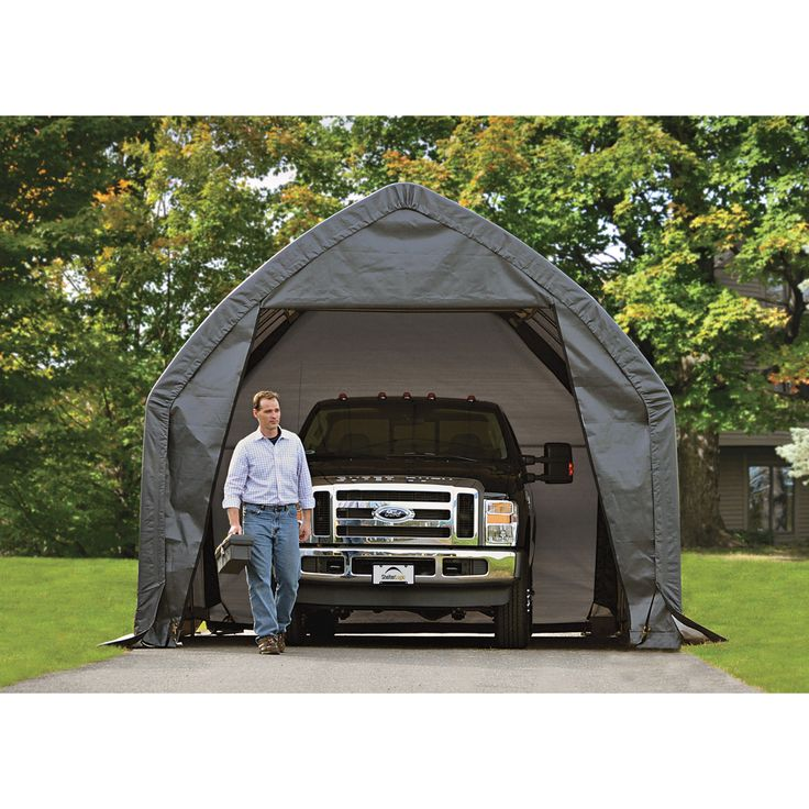 Shelterlogic Garage In A Box For Suv Truck Instant Shelter 20ft L X 13ft W X 12ft H Model 62693 Portable Garage Suv Trucks Carport