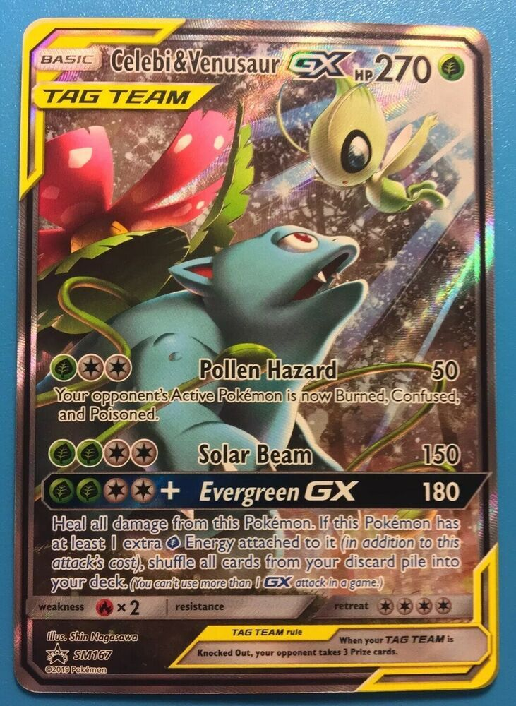 bb111257570 Pokemon TCG Celebi   Venusaur GX Tag Team Promo SM167 Mint - Pokemon Gifts  -  8.95 End Date  Saturday May-4-2019 19 04 27 PDT Buy It …