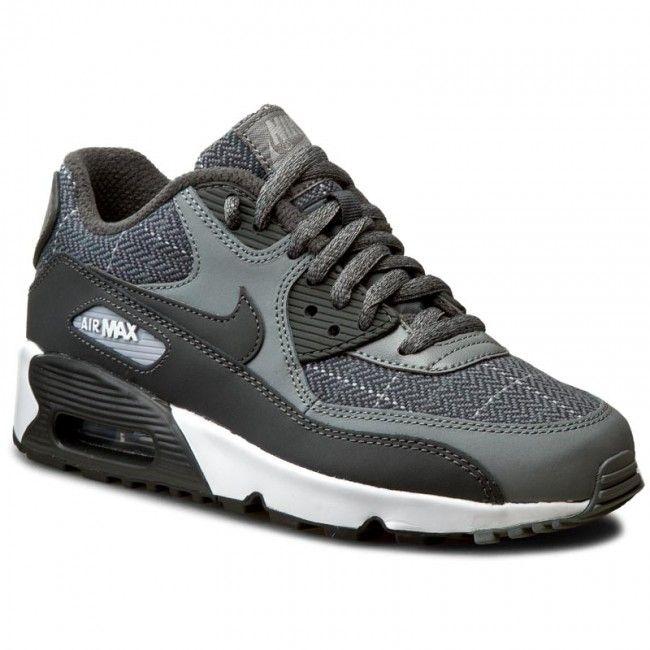 Pantofi NIKE - Air MAx 90 Se Ltr (Gs) 859560 001 Cl Gry/Anthrct/Wlf Gry/White