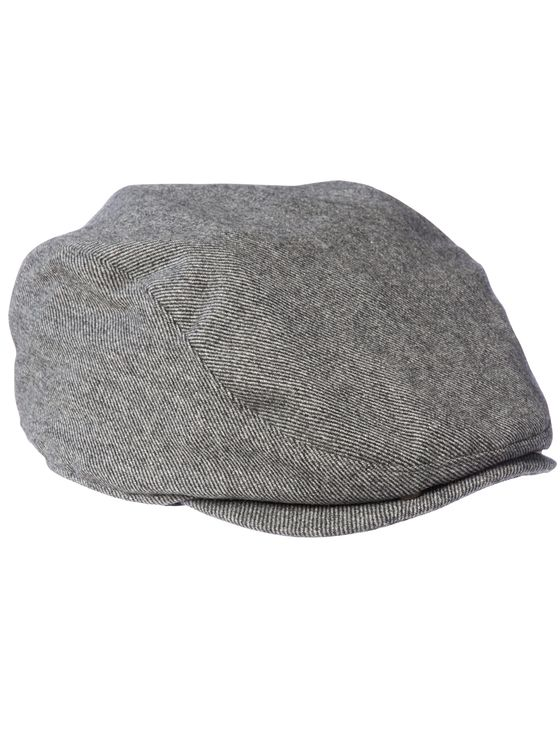 THE CUTTER- Grey Woollen Flat-Cap