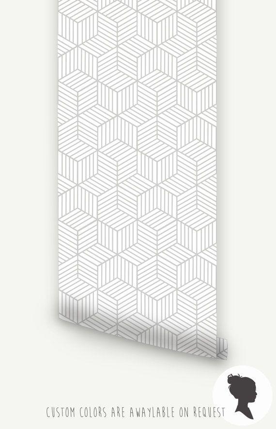 Auto adhésif Cube motif papier peint amovible D045 par Livettes