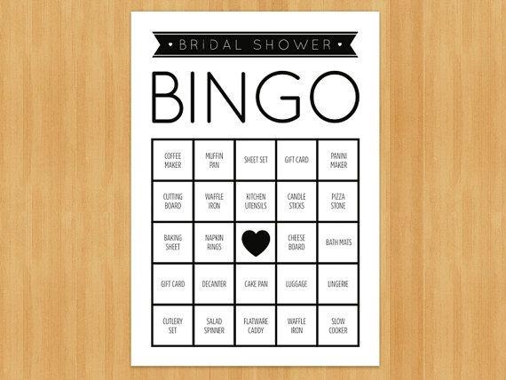 The 25 best bridal shower bingo ideas on pinterest free bridal printable bridal shower bingo game 60 cards in set diy instant download solutioingenieria Images