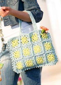 Granny squares handbag