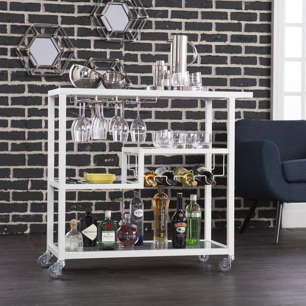 Holly & Martin Zephs White Bar Cart