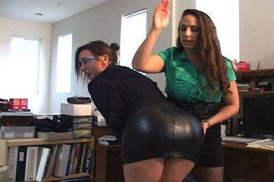 Spanking tight skirt