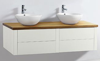 bathrooms with timber vanity tops - Google Search