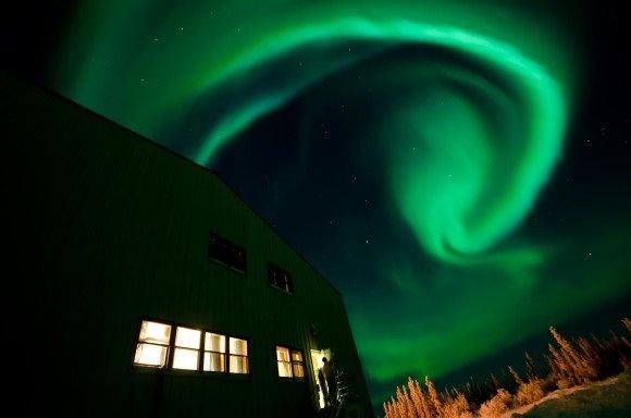 Aurora from Fort Yukon, Alaska by Jason Ahrns