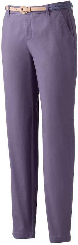 Croft & Barrow Women's Tapered Chino Pants