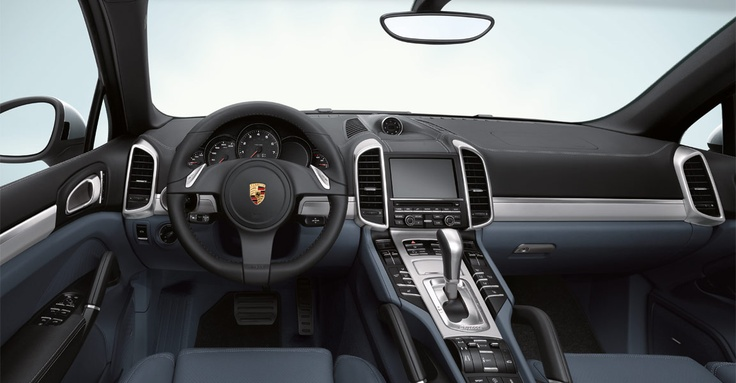 Like that in every Porsche, the new Cayenne interior exhibits the very highest standards of comfort and quality. And like every Porsche, it reflects our belief that the driver deserves the highest level of ergonomic design. Learn more: http://www.porsche.com/microsite/cayenne/  *Combined fuel consumption in accordance with EU 5: Cayenne models 11.5 - 7.2 l/100km, CO2 emission: 270 - 189 g/km