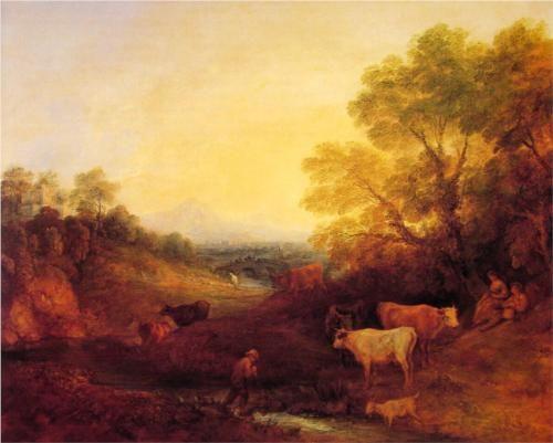 Landscape with Cattle - Thomas Gainsborough, c.1773