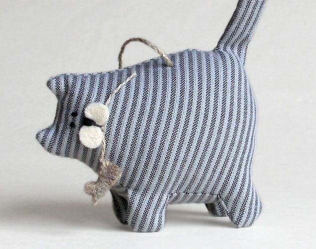 Weight the bottom and this would be the cutest door stop!