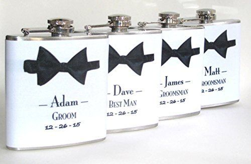 4 Four Groomsman Groomsmen Groom Best Man User Wedding Party 6 oz Liquor Hip Flask Flasks Gift, http://www.amazon.ca/dp/B01CQ6NZAW/ref=cm_sw_r_pi_awdl_x_DH.eybTZBT98G