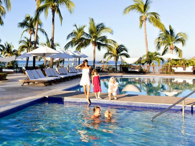 Club Med Ixtapa Pacific all inclusive resort in Mexico, with terrific kids programs including baby care, watersports, trapeze, and more.