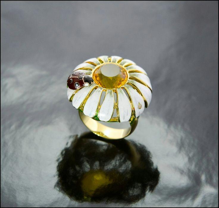 Gold, enamel, diamond. Made in Russia by Loskutov D.