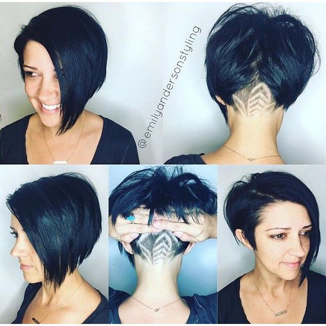 Shaved Nape Asymmetrical Bob Cut  Hair By @emilyandersonstyling  #UCFeed #BuzzCutFeed #Undercut ...