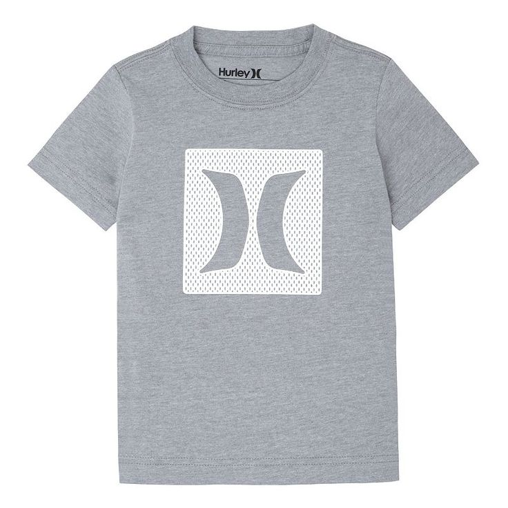 Toddler Boy Hurley Logo Mesh Tee, Grey