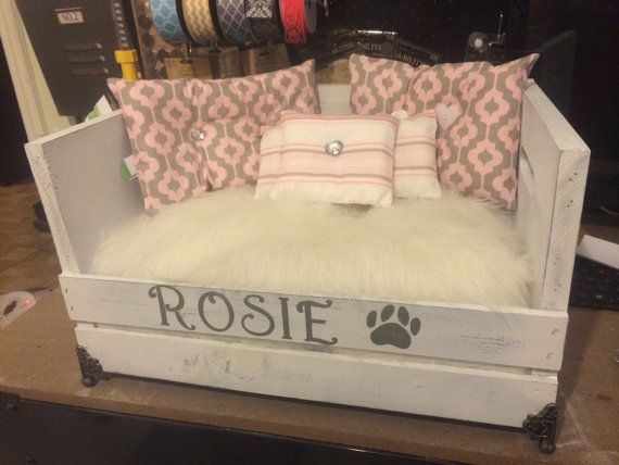 Kitty bed or small dog bed by ForTheCrafty on Etsy