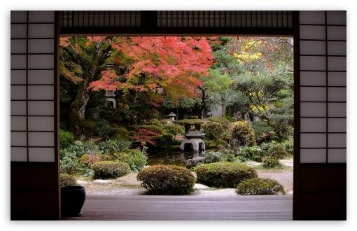 Traditional Japanese Garden Wallpaper Treenunan