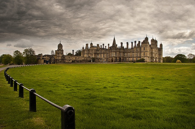 Have never seen so many chimneys!  Burghley House, Stamford, England.