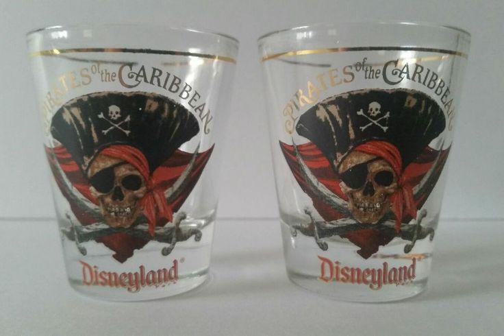 Disney Pirates Of The Caribbean Disneyland Souvenir Shot Glass Set of 2 | Collectibles, Disneyana, Contemporary (1968-Now) | eBay!