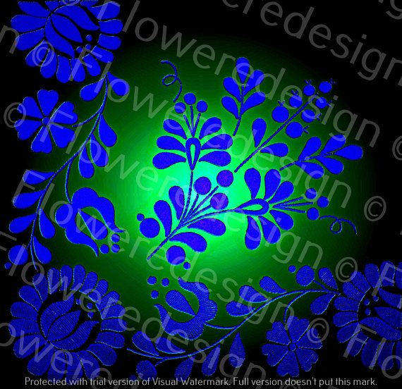 026. Digital flower motif hand embroidery motif