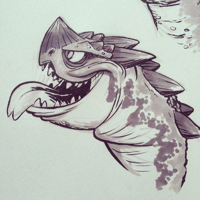 Another #dragon #monster #brushpen #prismacolormarker #cartoons