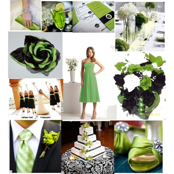Lime Green and Black Wedding, created by tweeterj on Polyvore