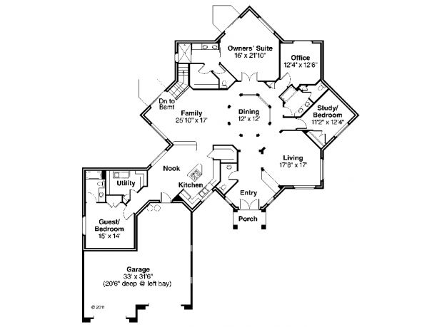 Unique house plans one story home design and style for Unique one story floor plans