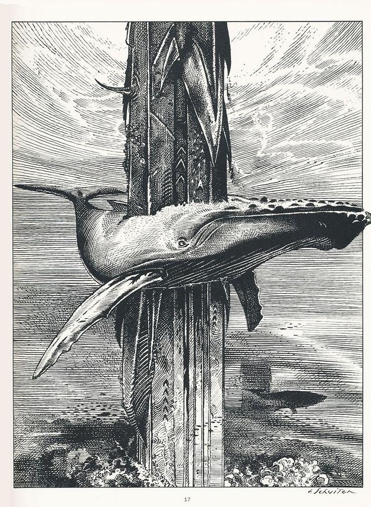 François Schuiten's contribution for the book: A ma mer, © Greenpeace, 1983