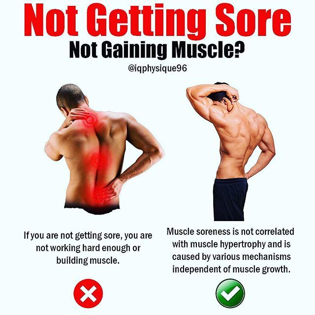 NOT GETTING SORE by @iqphysique96 - Delayed-onset muscle soreness or DOMS was previously thought to be caused by lactic acid build-up during exercise. We now know muscle soreness is due to muscle damage the microtears and contusions caused by lifting weights. Muscle soreness often occurs when you do new exercises or do weighted eccentrics like during an RDL. Although muscle damage is a proposed mechanism of muscle growth research does not support this proposition.  Flann et al. compared 2…