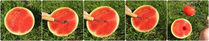 Step by Step instructions on how to use a melon baller! Super easy and creative way to display watermelon!