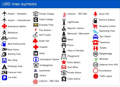 Printable Map Symbols moreover Google Map Legend Symbols moreover Map ...