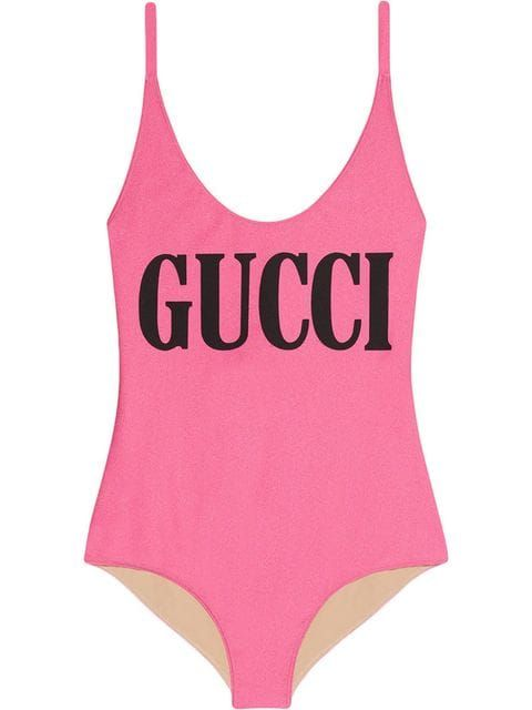 1fe2b6fc568d9 Gucci Sparkling swimsuit with Gucci print $490 - Buy Online SS19 - Quick  Shipping, Price