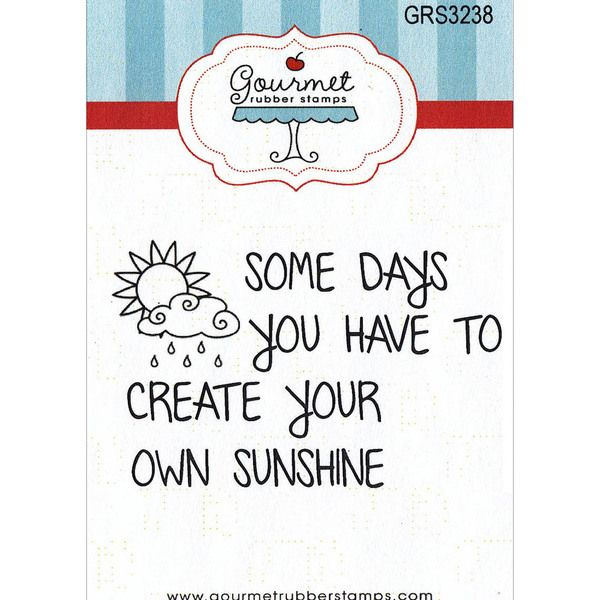 """Gourmet Rubber Stamps Cling Stamps 2.75""""X4.75""""-Create Your Own Sunshine"""