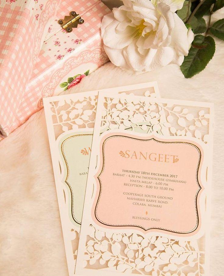 telugu wedding invitation cards online%0A Expressing Ideas   Portfolio   Wedding Invitation  Pure and Nude Lasercut  invite with craft DIY atmospheric invite with Blush WeddingNet