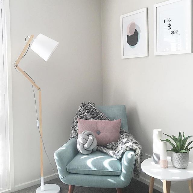 I feel like redecorating when I see a shot by @styledbydi Feat our grey petite knot cushion