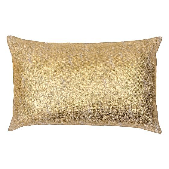 Exalt in the divine glamour captured in the Metallic Breakfast Cushion from Bambury for a glint of luxury in your home.