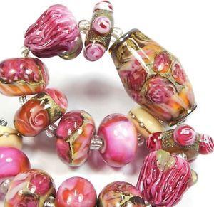 Quinlan Glass Letters Form Juliet Handmade Lampwork Glass Beads