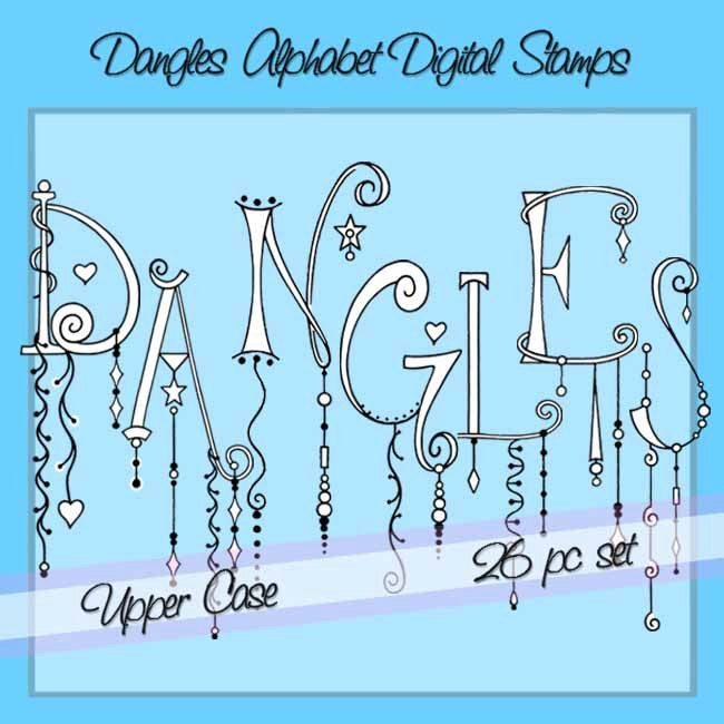 upper case letters dangles alphabet digital stamps personal and 25384 | f0caeeb1cabd0a900bdc37d693c2ff2b