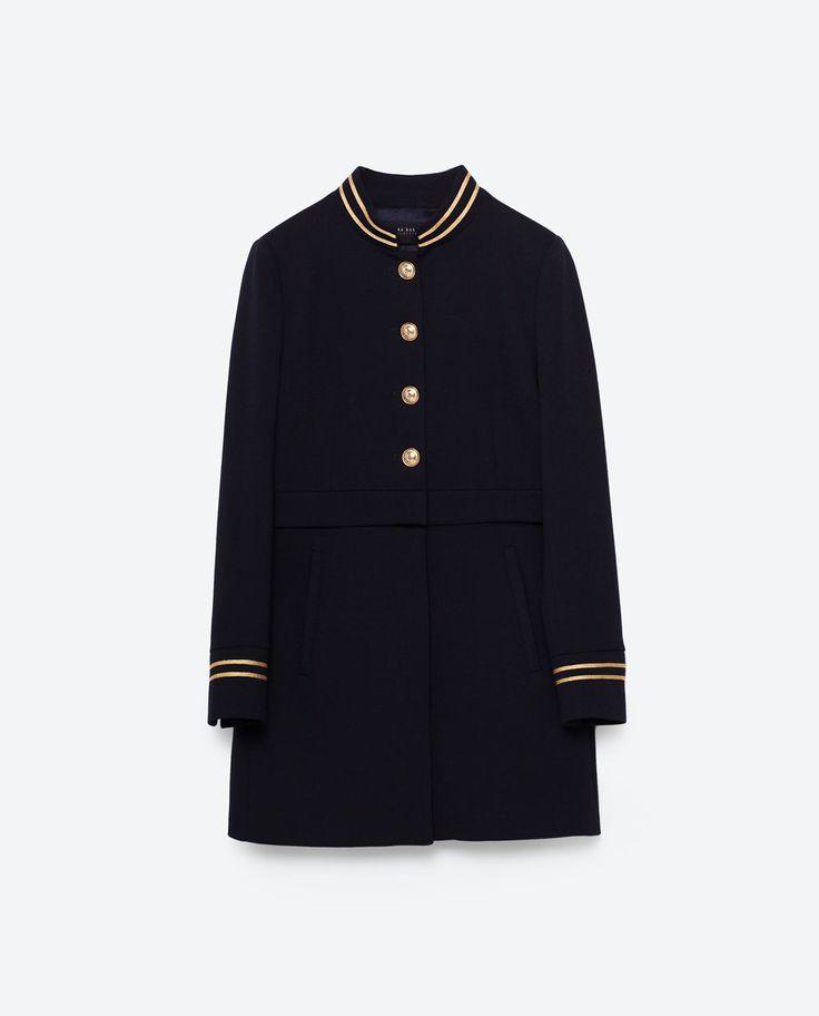 Image 8 of MANDARIN COLLAR FROCK COAT from Zara